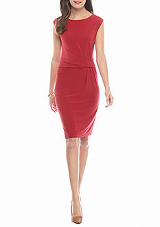 Anne Klein Twisted Pleat Sheath Dress