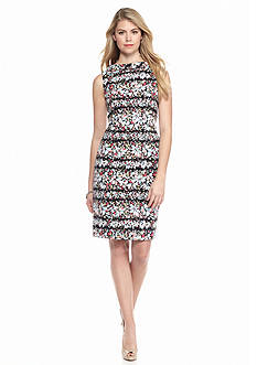 Anne Klein Floral Printed Sheath Dress