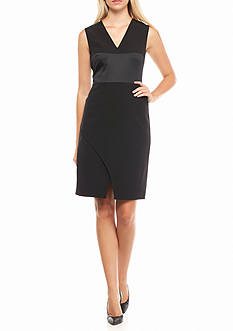 Anne Klein V-Neck Sheath Dress