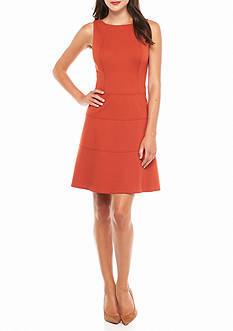 Anne Klein Seamed Drop-waist Dress
