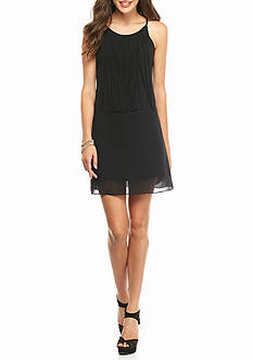 Byer California Fringe Shift Dress