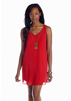 A Byer Necklace Shift Dress