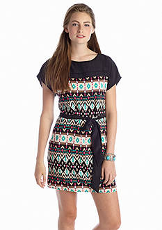 A Byer Printed Shift Dress