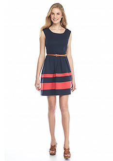 A. Byer Colorblock Skater Dress