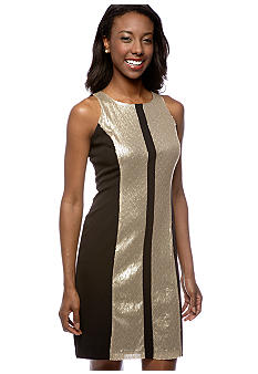 Gabby Skye Sequin Panel Dress