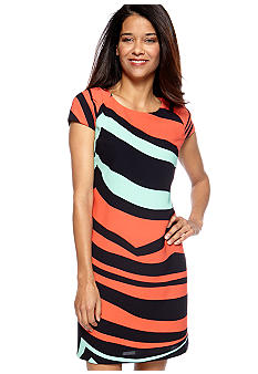 Gabby Skye Petite Animal Stripe Dress