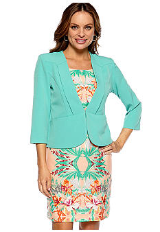 Danny & Nicole Petite Mirror Print Jacket Dress
