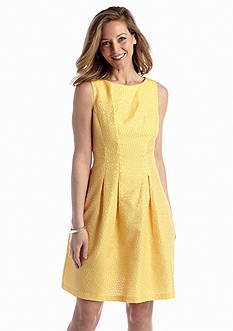 Gabby Skye Jacquard Fit And Flare Dress
