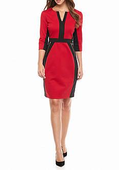 Gabby Skye Colorblock Ponte Sheath Dress