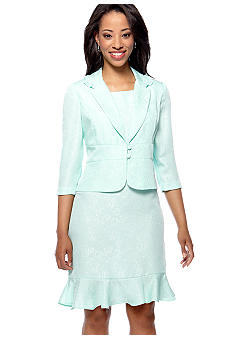 Danny & Nicole Plus Size Three-Quarter Sleeved Jacket Dress