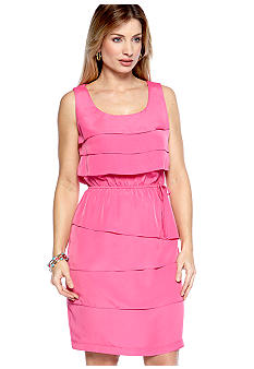 Danny & Nicole Sleeveless Tiered Dress