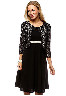 Danny & Nicole Lace Jacket Dress