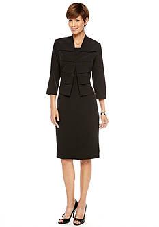 Three-Quarter Sleeved Jacket Dress