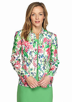 DN Designs by Danny & Nicole Floral Printed Jacket