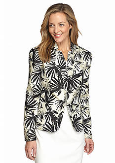 DN Designs by Danny & Nicole Tropical Printed Jacket