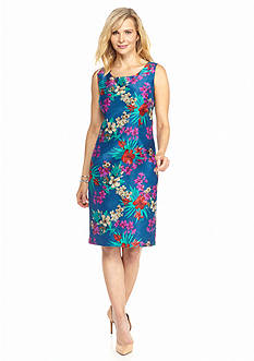 DN Designs by Danny & Nicole Floral Printed Sheath Dress