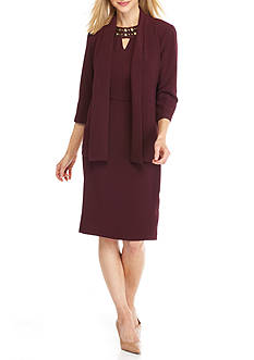 Gabby Skye Bead Embellished Jacket Dress
