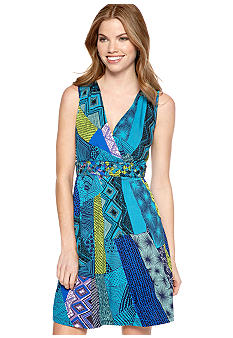Spense Petite Sleeveless Printed Dress