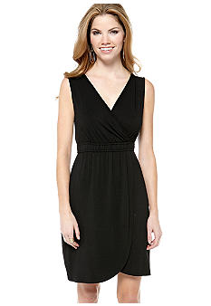 Spense Petite Sleeveless Wrap Dress with Crochet Back Detail