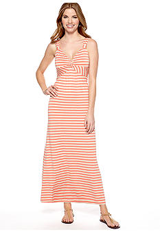 Spense Petite Sleeveless Stripe Maxi Dress