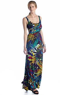 Spense Sleeveless Printed Maxi Dress