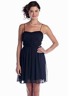 Hailey Logan Strapless Fit and Flare Party Dress