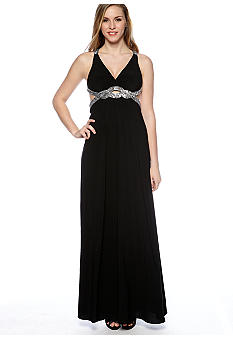 Hailey Logan Halter Beaded Gown