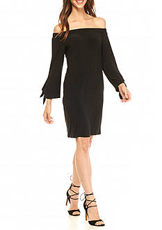 MSK Off the Shoulder Jersey Shift Dress