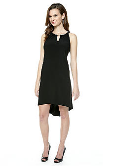 MSK Sleeveless Hi-Lo Hem Shift Dress