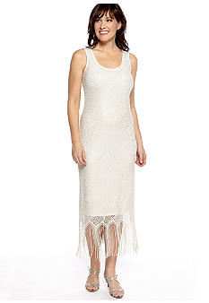 JBS Metallic Lace Dress
