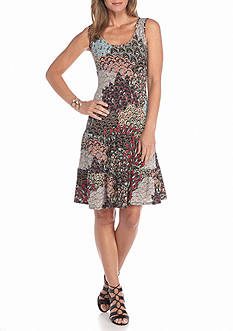 MSK Paisley Printed Tiered Dress