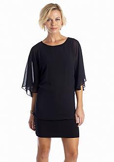 Bat-Sleeve Tunic Dress