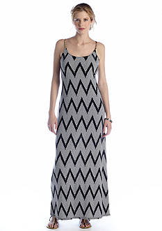 MSK Chevron Stripe Maxi Dress