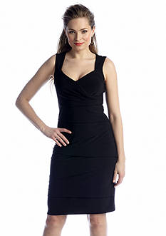 JBS Sleeveless Tiered Sheath Dress