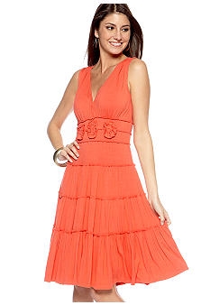 Sangria Sleeveless Tiered Dress