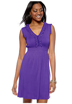 New Directions Ruffle Front Dress