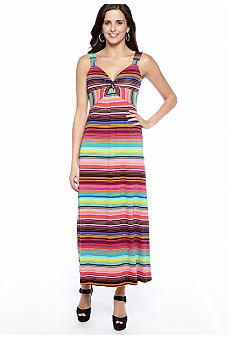 New Directions Sleeveless Printed Maxi Dress