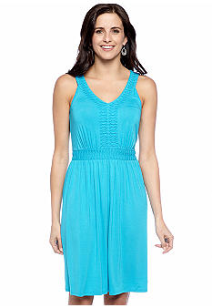 New Directions Sleeveless Dress with Tuck Detail