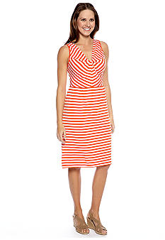 New Directions Sleeveless Stripe Tank Dress