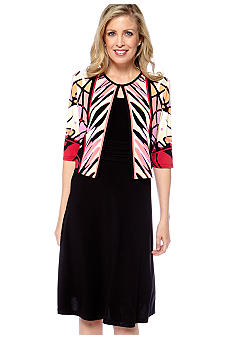 Madison Leigh Printed Matte Jersey Jacket Dress