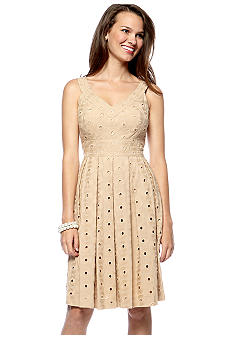 muse Sleeveless Eyelet Dress  - Belk.com from belk.com