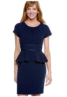 muse Cap-Sleeved Peplum Dress
