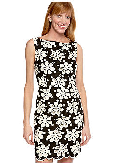 muse Sleeveless Daisy Eyelet Sheath Dress