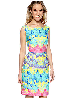 muse Sleeveless Floral Print Dress
