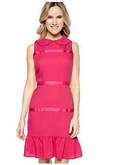 muse Sleeveless Peter Pan Collar Sheath Dress