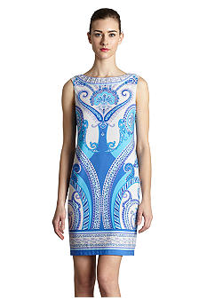 muse Sleeveless Mirror Print Sheath Dress