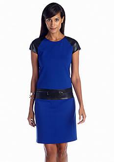 muse Cap Sleeve Ponte Shift Dress