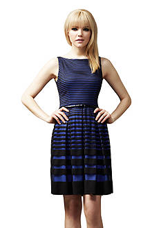 muse Striped Fit and Flare Dress