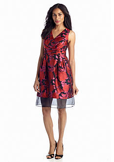 muse Floral Fit-and-Flare Party Dress
