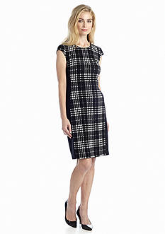 muse Plaid Sheath Dress